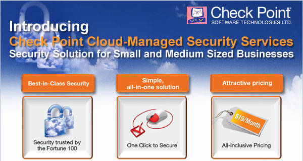 Description: Description: Description: Description: Introducing Checkpoint Cloud-Managed Security Services, Security Solution for Small and Medium Sized Businesses