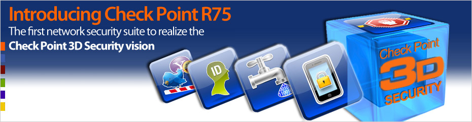 The first network security suite to realize the Check Point 3D security vision