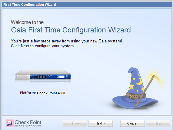 GAiA Configuration Wizard