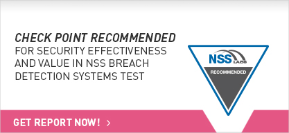 Check Point Recommended in 2015 NSS Breach Detection Systems Test Report