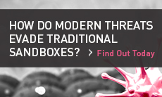 How do modern threats evade traditional sandboxes?
