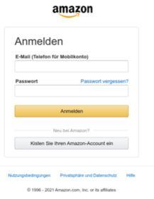 amazon login screen fraud