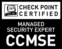Check Point Certified Managed Security Expert (CCMSE) - Black and White