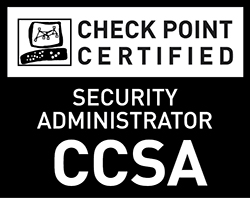 Check Point Certified Security Administrator (CCSA) - Black and White