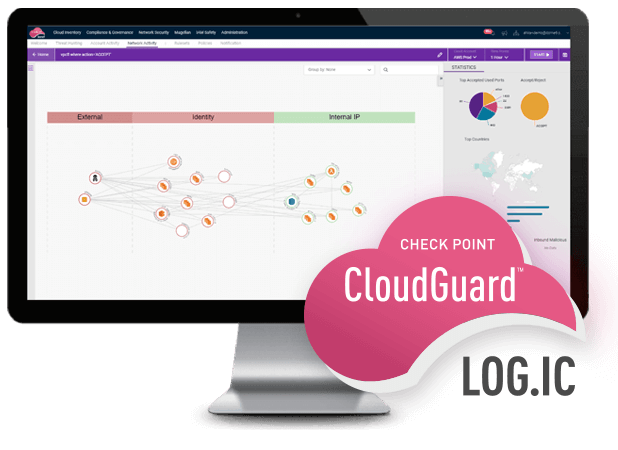 Cloud Security Analytics - CloudGuard LOG.IC