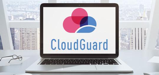 Logotipo de CloudGuard en el portátil