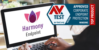 Endpoint comparison with Harmony Endpoint AV test