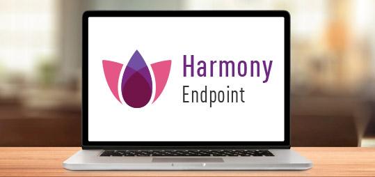 Logotipo de Harmony Endpoint en el portátil