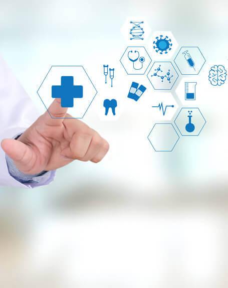 Healthcare Cloud Security - healthcare logos collage