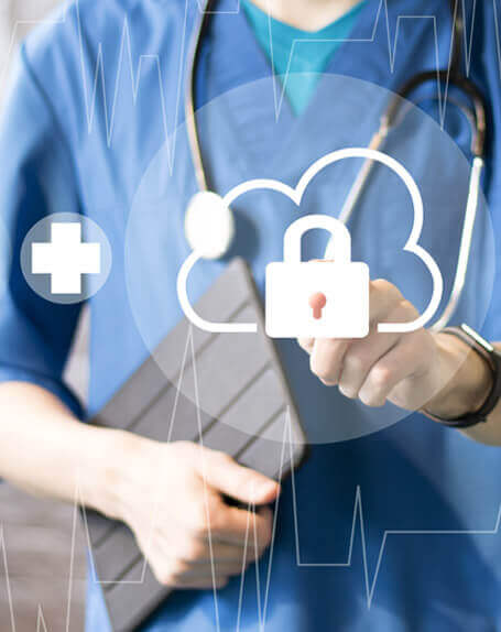 Healthcare Cloud Security medical worker