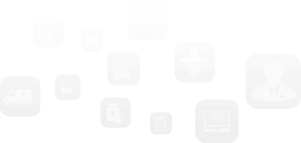 Healthcare Security - floating healthcare theme icons