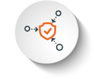 icon round orange protection from threats