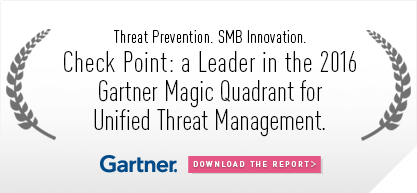Check Point: a Leader in 2016 Gartner Magic Quadrant for Unified Threat Management (UTM)