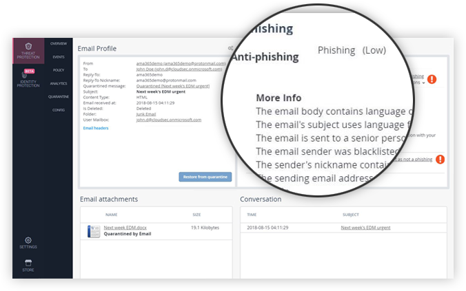 Catch More Phishing Attacks on Office365 and Gmail