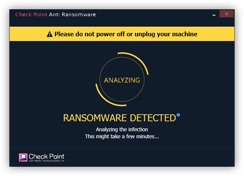 SandBlast Agent Endpoint and Threat Protection: Anti-Ransomware screen capture