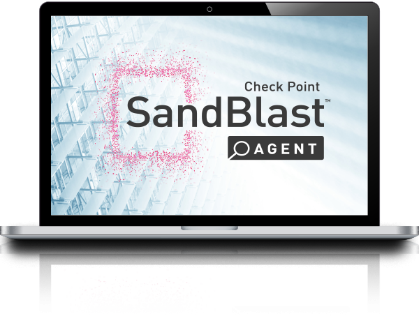 SandBlast Agent floating logo monitor hero image