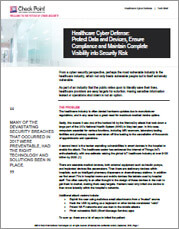 Check Point Healthcare Cyberdefense Solution Brief
