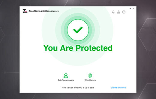 ZoneAlarm Anti-Ransomware: You Are Protected